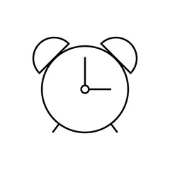 Alarm clock thin line icon. Time vector illustration isolated on white. Clock glyph style design, designed for web and app. Eps 10.