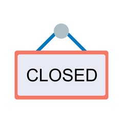 Closed Sign Ecommerce Flat  Icon
