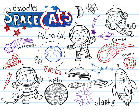 Space Cats - doodles collection