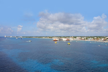 Cozumel, Coast Line, view from a cruise ship