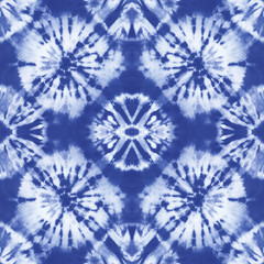 fc654f8e Seamless pattern, abstract tie dyed fabric of indigo color on white cotton.  Hand painted. Transferred. Pending · Watercolor shibori ...
