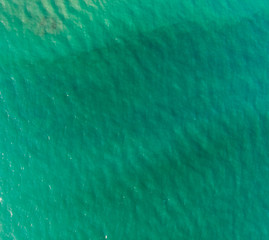 Sea seen from above, texture of waves.