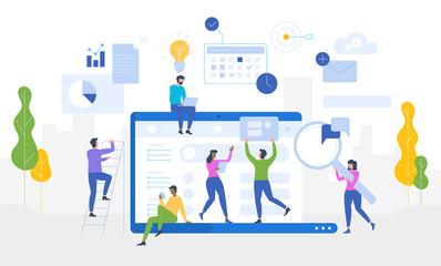 Data Analysis Website analytics information tools concept