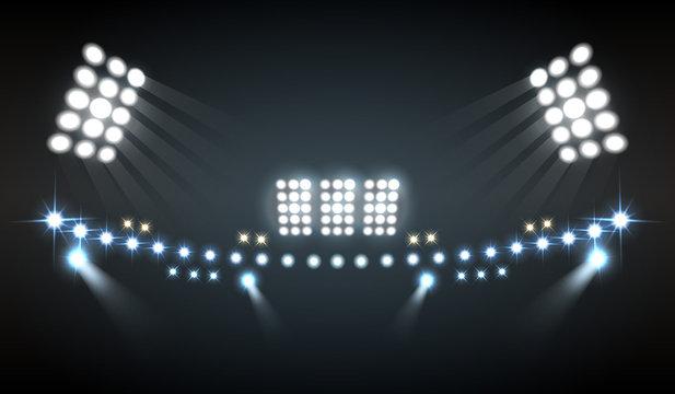 Stadium Lights Composition