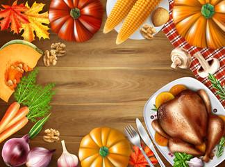 Thanksgiving Day Still Life Composition