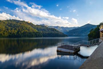 Highland lake Goygol  in Azerbaijan