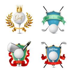 Wall Mural - Golf Emblems Set