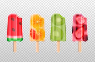 Bitten Icecream Popsicles Set