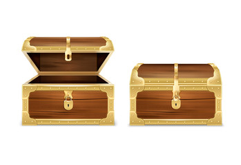 Wooden Chest Realistic Set
