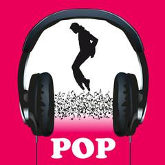 musique, pop, casque, audio, funk, pochette, concert, notes de musique, symbole, affiche