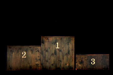 wooden winner stage