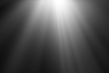 abstract beautiful beams of light, rays of light screen overlay on black background. Wall mural