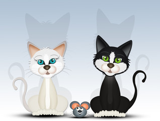 cats and little mouse