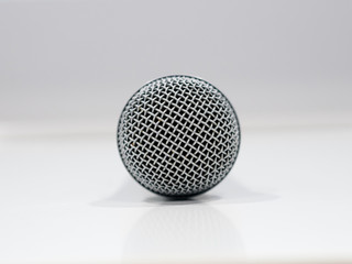 Microphone detail on white backrgound