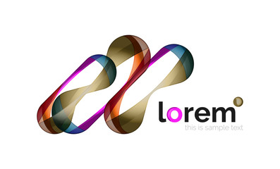 Logo, abstract geometric icon