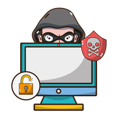 cybersecurity threat cartoon
