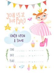 An invitation with a princess.