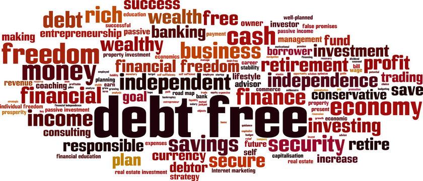 Debt free word cloud