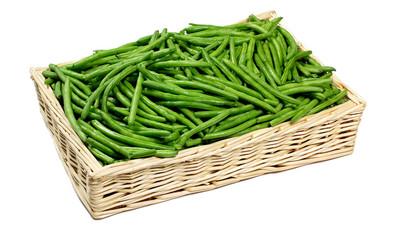 Fagiolini verdi nel cesto