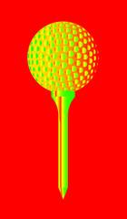 Golf Ball And Tee Abstract