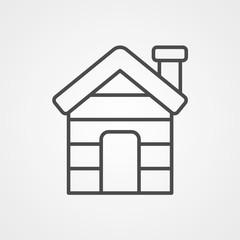 Cabin vector icon sign symbol