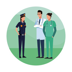Doctors and police