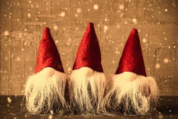 Three Gnomes, Retro Cement, Snowflakes Red Jelly Bag Cap