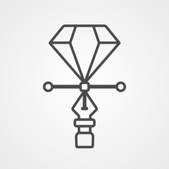Pen tool vector icon sign symbol