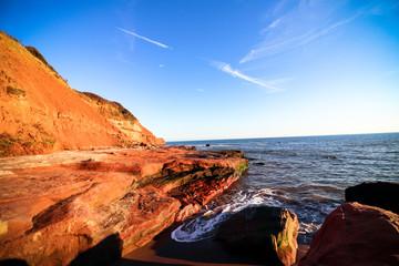 Exmouth cliffs, Devon