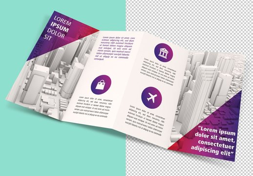 Isolated Brochure Mockup