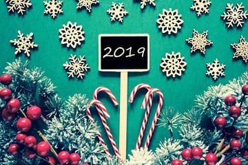 Black Christmas Sign, Lights, Text 2019, Retro Look