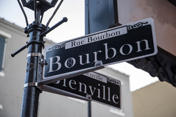 Bourbon Street is a street in the heart of New Orleans' oldest neighborhood, the French Quarter, in New Orleans, Louisiana.