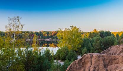Łuk mużakowski - geo park - kopalnia babina