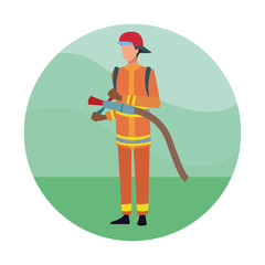 Firefighter Job worker
