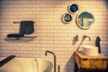 bathroom in ecological style