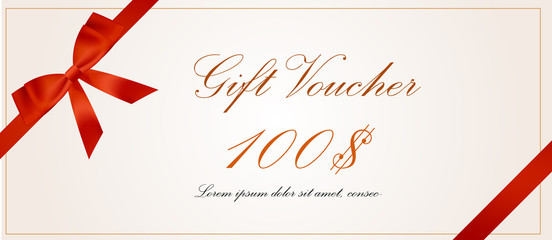 gift voucher pack template withs flat design