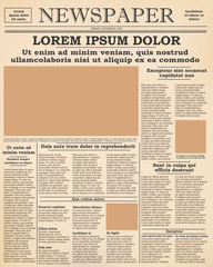 old newspaper front page