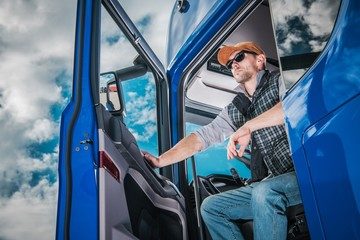 Pro Truck Driver on Duty Wall mural