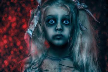portrait of zombie girl