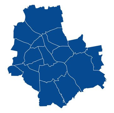 Map of Warsaw