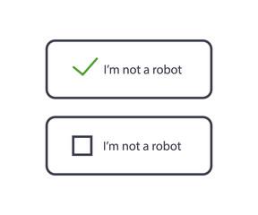 Captcha, I am not a robot. Vector Illustration