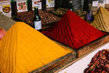 Morocco market spices