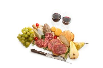Assortimento di cibo italiano rustico