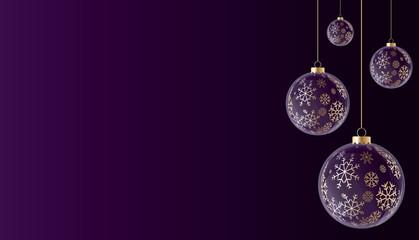 Boules de noël violet