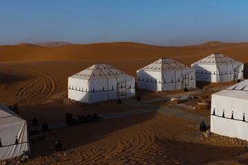 Luxury desert camp in sahara