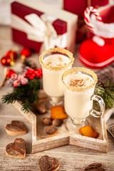 Traditional eggnog for Christmas