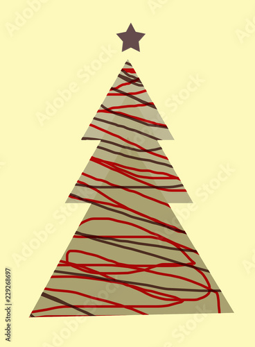 Immagini Natalizie Stilizzate.Albero Di Natale Stilizzato Stock Photo And Royalty Free Images On