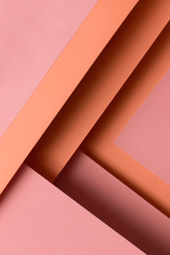 Peach color paper designs