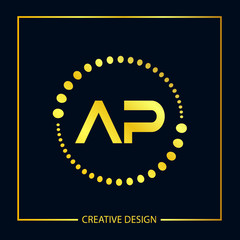Initial Letter AP Logo Template Design
