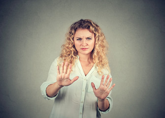 Offended woman asking to stop